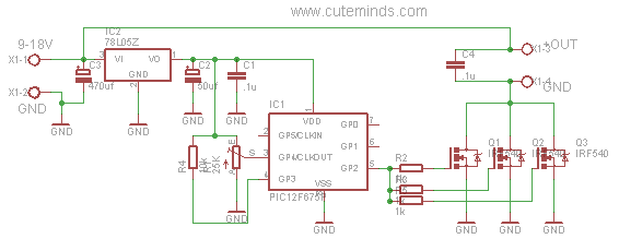 51 Controllo Velocita Con Pic 12f675 together with 220v Mobile Charger Circuit Diagram besides Scr Mini Power Inverter moreover Caravan Wiring Diagram 240v furthermore Dc Voltage Converter Circuits. on 12v inverter diagram